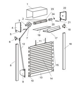 Zewnętrzna roleta Intermo - schemat budowy